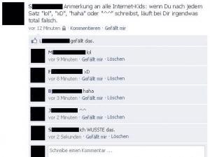 lol / xD / haha - Lustige Facebook Dialoge