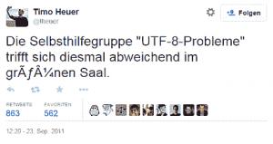 Die Selbsthilfe-Gruppe für UTF-8 und Uni-Code Probelme