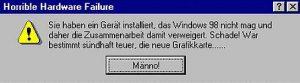 Windows mag das neu installierte Gerät nicht