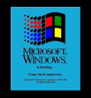 Windows fährt hoch - Kommen Sie morgen wieder